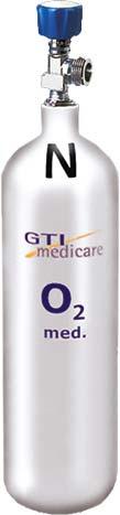 2,0-Liter Sauerstoff-Flasche Leichtstahl