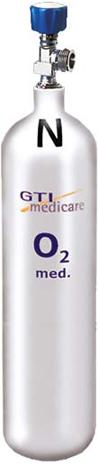 3,0-Liter Sauerstoff-Flasche Leichtstahl