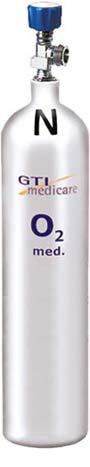 5,0-Liter Sauerstoff-Flasche Leichtstahl