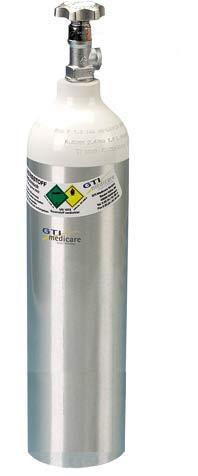 2,0-Liter Sauerstoff-Flasche Alu gebürstet (1,8 L TYP 2)