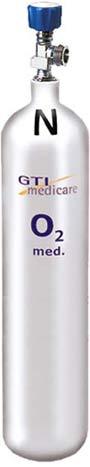 5,0-Liter Sauerstoff-Flasche Aluminium Standard