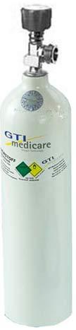 2,0-Liter Sauerstoff-Flasche Aluminium Superleicht